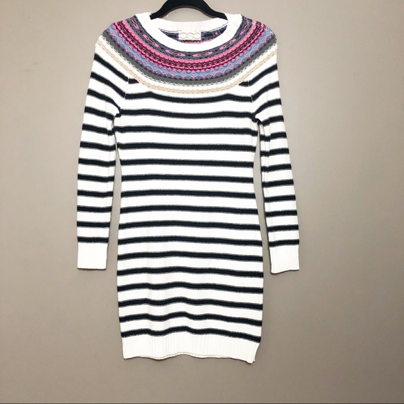 5192916d61d Pink Rose Striped Sweater Dress. M 5b4e667012cd4a35ed7fe2ec